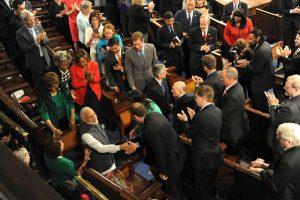 Narendra Modi meeting the US Congress members