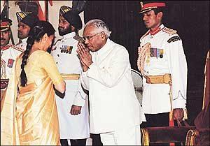 Squadron Leader Ajay Ahuja was posthumously awarded the Vir Chakra