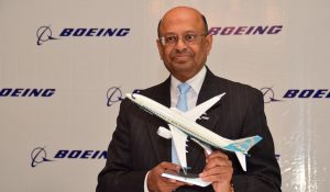 Dr. Dinesh Keskar, Senior Vice President, Asia Pacific and India Sales, Boeing Commercial Airplanes presenting 2016 India Current Market Outlook and State of Indian Aviation in New Delhi