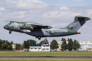 KC-390 in AERO Vodochody - arrival