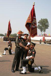 Presentation of colours to 21 Mahar