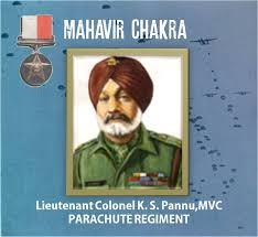 Lt Col Kulwant Singh Pannu Mahavir Chakra