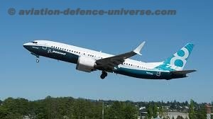 Boeing 737 -8 flying for the first time in the sky