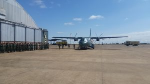 C295 of Brazilian Air Force standing at the Campo Grande military base in Brazil after a five weeks long tour after getting handed over at Seville, Spain on 16th June 2017. It was displayed at Paris Air Show from 19th to 25th June.