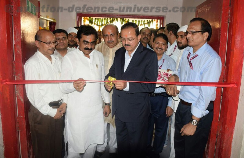 The Minister of State for Defence, Dr. Subhash Ramrao Bhamre inaugurating the state-of-the-art new production line for manufacturing of 84 mm ammunitions, during his visit to Ordnance Factory Khamaria, in Madhya Pradesh on October 14, 2017. The Member of Parliament of Jabalpur, Rakesh Singh and MLA of Jabalpur Cantt. Area, Ashok Rohani are also seen.
