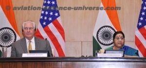 US Secretary of State Rex Tillerson with Sushma Swaraj