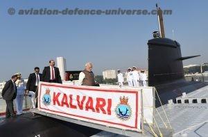 first Indian made Scorpene class submarine INS Kalvari