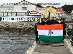 INSV Tarini entered Port Stanley (Falkland islands)