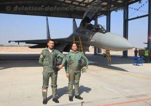 Defence Minister Nirmala Sitharaman, flew in a Su-30 MKI of 31 Squadron