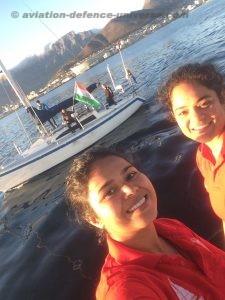 Women sailing vessel INSV Tarini enters Cape Town