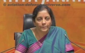Defence Minister  Nirmala Sitharaman addresses Indian Forces on the eve of the 72ndIndependence Day