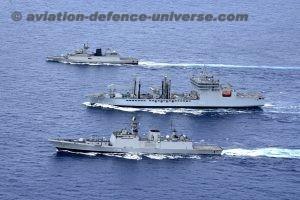 The Indian Naval Ships Sahyadri, Shakti and Kamorta
