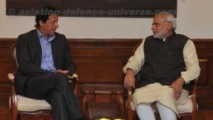 Imran Khan with Narendra Modi