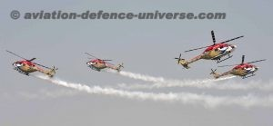 Sarang Helicopters performing