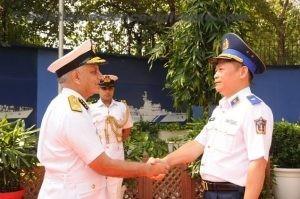 Indian and Vietnamese Coast Guards meet