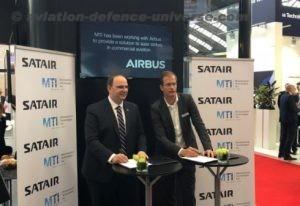 George Palikaras, CEO MTI and Bart Reijnen, CEO of Satair
