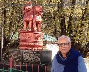Managing Editor ADU at the Ashoka Pillar at the IMTRAT entry