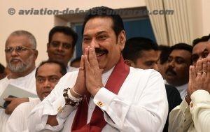 Sri Lanka's newly appointed Prime Minister Mahinda Rajapaksa