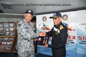 Singapore Defence Minister at SIMBEX 18