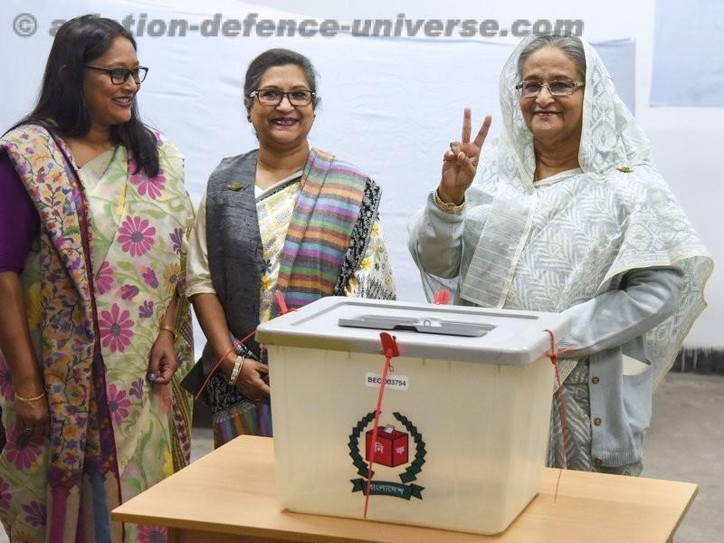 Landslide victory for Hasina