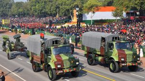 M 777 A2 Ultra Light Howitzer passes through the Rajpath