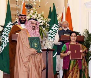 Exchange of Agreements between India and Saudi Arabia