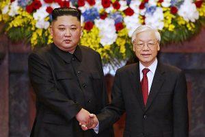Chairman Kim Jong-un and President Nguyen Phu Trong