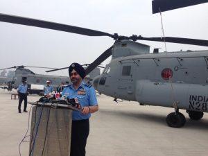 IAF Chief addressing the gathering