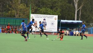 action during the final match