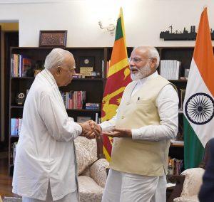 R. Sampanthan calling on the Prime Minister, Narendra Modi