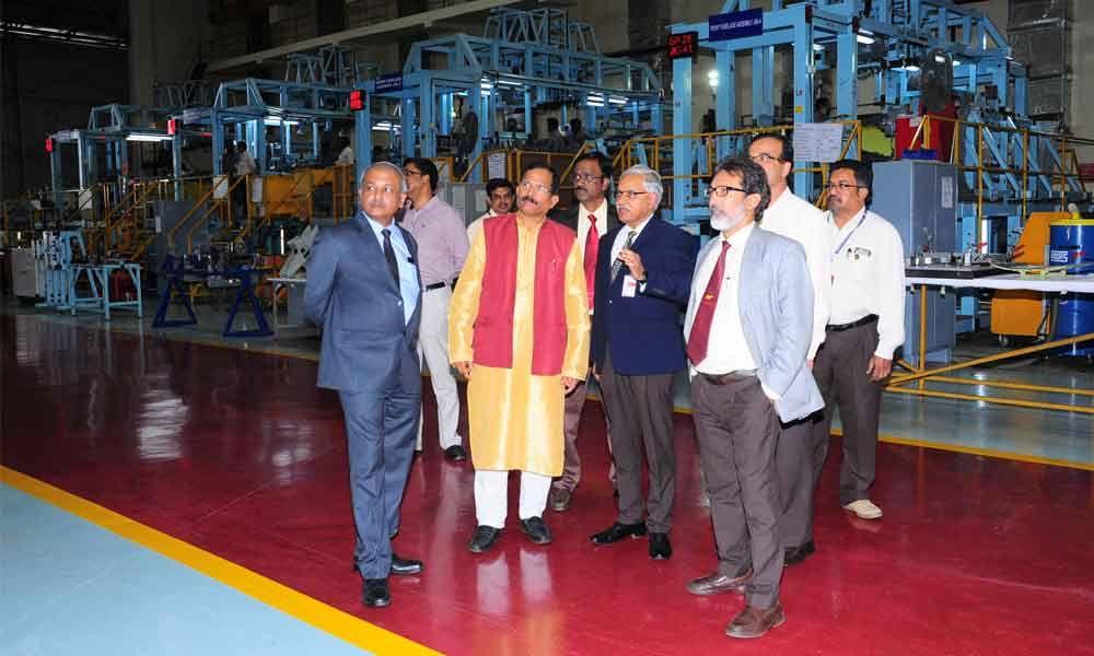 MOS Shripad Naik visits BEL's Bangalore Unit