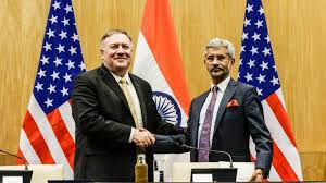 US Secy of State Mike Pompeo and Indian Foreign Minister S Jai Shankar