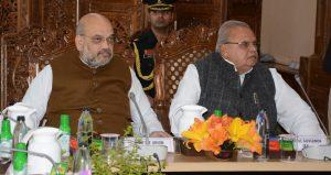 Amit Shah and the Governor of Jammu and Kashmir, Satya Pal Malik