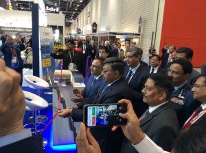 Secretary Defence Production Subhash Chandra inaugurating the Indian Pavilion at DSEi 2019