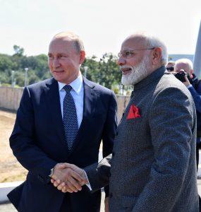 Narendra Modi & Vladimir Putin : Prime motivators in developing Indo-Russian defence ties