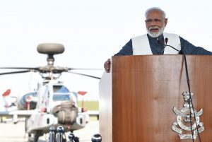 Modi addressing the soldiers, at the celebration of Diwali