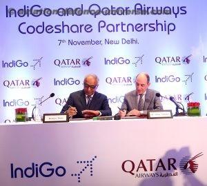 Qatar Airways and Indigo Sign Codeshare Agreement