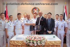 Schiebel's CEO Hannes Hecher and Admiral Prachachart Sirisawat