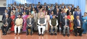 The Union Home Minister, Shri Amit Shah in a group photograph with the Senior Police Officers