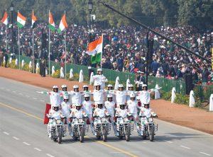 Women bikers of CRPF enliven the Rajpath
