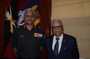 Colonel Commandant Bombay Sappers  Lt. Gen Michael Mathews