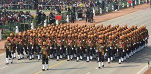 The Sikh Light Infantry Regiment Marching