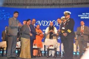 Gowtama M V, CMD, BEL, Anandi Ramalingam, and Mahesh V, Director