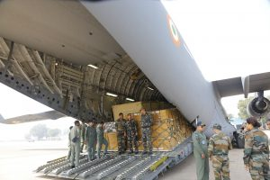 Indian Air Force C-17 special flight