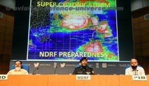 DG, NDRF, S.N. Pradhan and the Director General of Meteorology