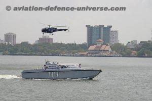 Chetak helicopter from INS Dega
