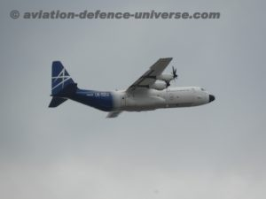 Lockheed Martin's LM-100J flying in the FIA-18