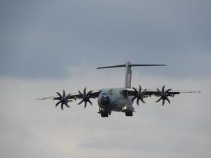 Airbus in Farborough 2018 skies