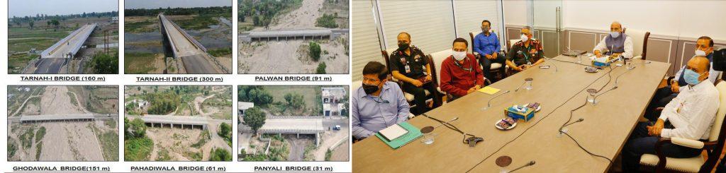 six strategic bridges in Jammu & Kashmir