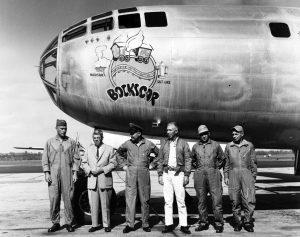 The B-29 Bockscar which dropped the Fat Man